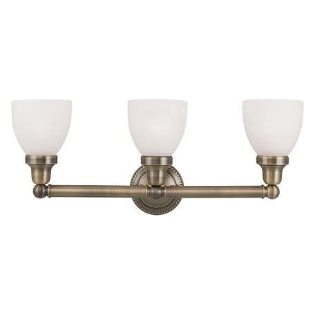 Antique Brass Bathroom Vanity Lights Livex Lighting Antique Brass Classic 3 Light Bathroom