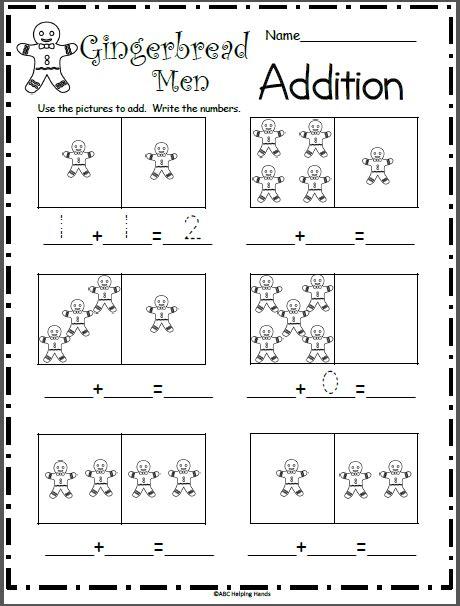 gingerbread math worksheets gingerbread addition math worksheet madebyteachers