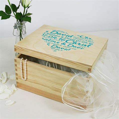 Wedding Keepsake Box Not On The High by Personalised Keepsake Box By Plantabox