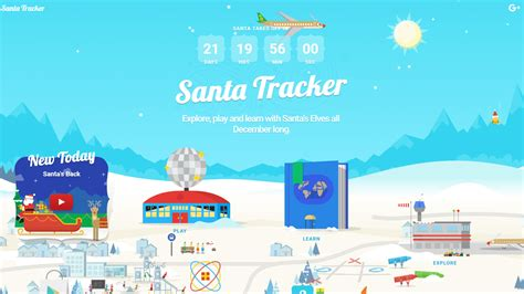 Santa Search S 2016 Santa Tracker Signals The Official Countdown To