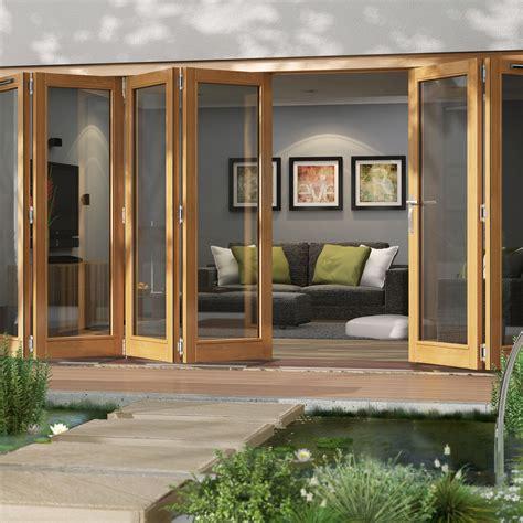 glazed folding patio doors solid laminated oak glazed folding sliding patio doors h
