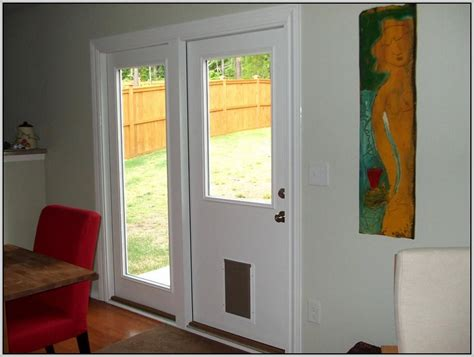 Patio Door With Doggie Door Built In Patios Home Patio Door With Door Built In
