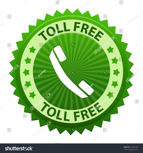 Toll Free Lookup Toll Free Green Label With Phone Icon Or Symbol Isolated On White Background