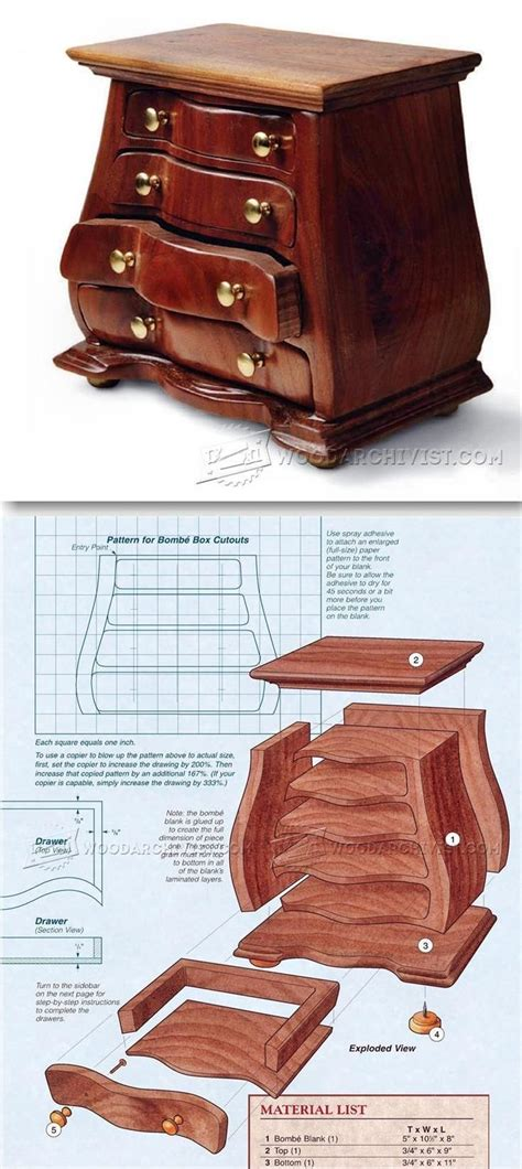bombe jewelry box plans woodworking plans  projects