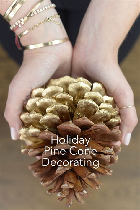 pine cone decorating fresh american style