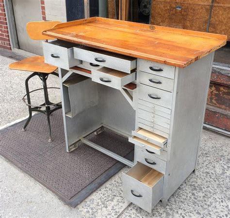 Vintage Industrial Aluminum Watchmaker's Desk   cityFoundry
