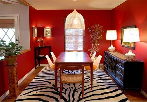 Red Dining Room Ideas Dining Room With Red Walls Diningroomstyle Com
