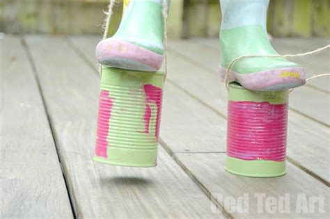 can crafts tin can crafts stilts ted s