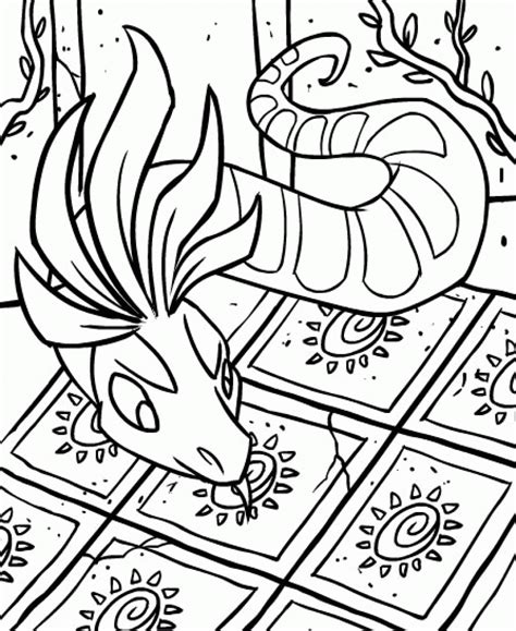 Free Printable Neopets Coloring Pages For Kids Neopets Coloring Pages
