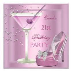 21st birthday pink martini high heel shoes 5 25 quot square invitation card zazzle