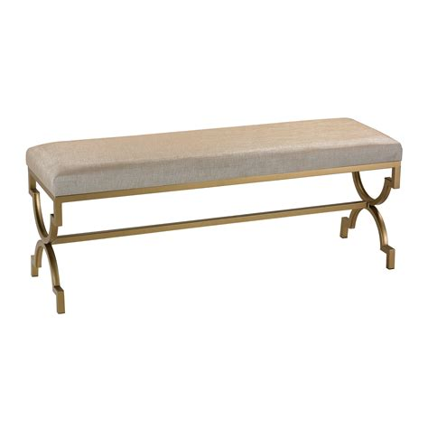ottoman with gold legs cream velvet gold arch leg ottoman bench