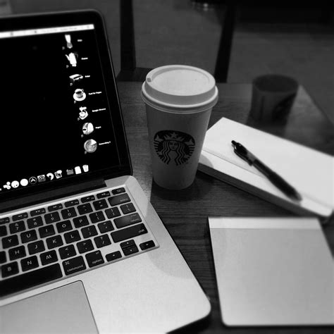 macbook wallpaper coffee macbook pro and starbucks disposable cup and retractable
