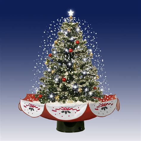 photos of atrificial christmas tress with snow 2 5 pre lit pvc amazing musical snowing artificial table top tree on stand with