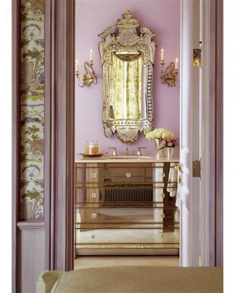 impressive venetian mirror bathroom decorating ideas