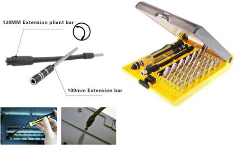 Obeng Fleksibel jackly 45 in 1 precision screwdriver professional repair tool kit jk 6089c jakartanotebook