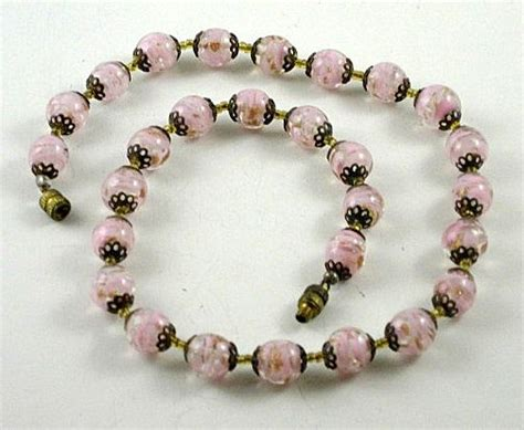 vintage murano glass bead necklace mg 1026 1l jpg