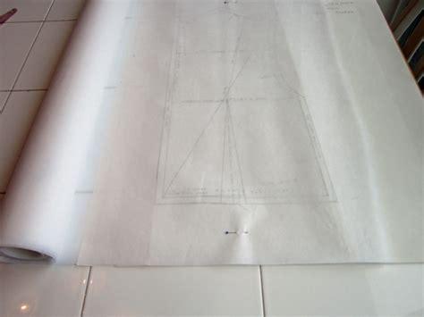 pattern tracing fabric drafting basic bodice block sewlikeinparis com