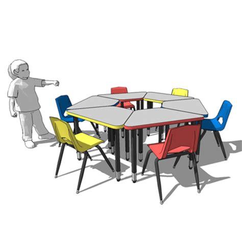 Office Desk For Kids Circle Desks 3d Model Formfonts 3d Models Amp Textures