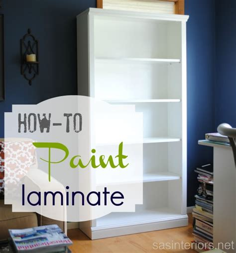 spray paint bookshelf how to paint laminate furniture jenna burger