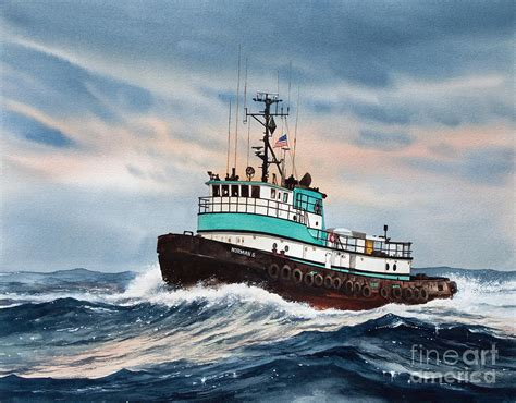 tugboat painting tugboat norman s painting by james williamson