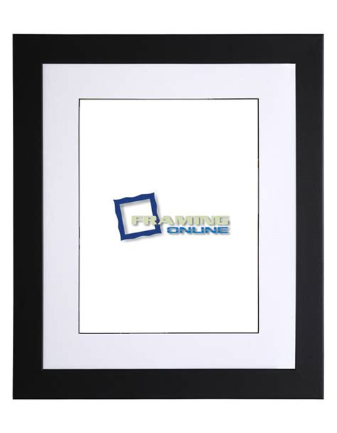10 X 20 Frame With Mat by 10 Quot X13 Quot Black Frame White Black Mat 405 10 Quot X13