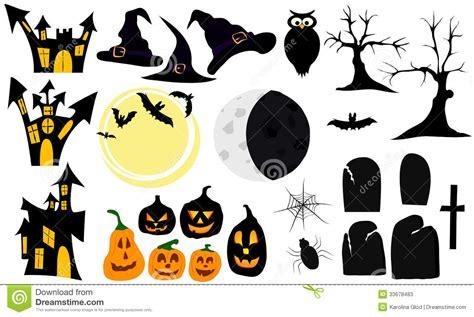 simbolos o imagenes de halloween set of graphic elements and symbols for halloween stock