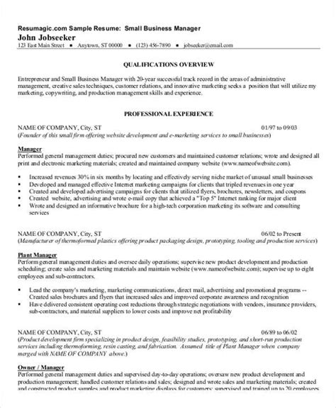 business resume template 54 manager resumes in pdf free premium templates