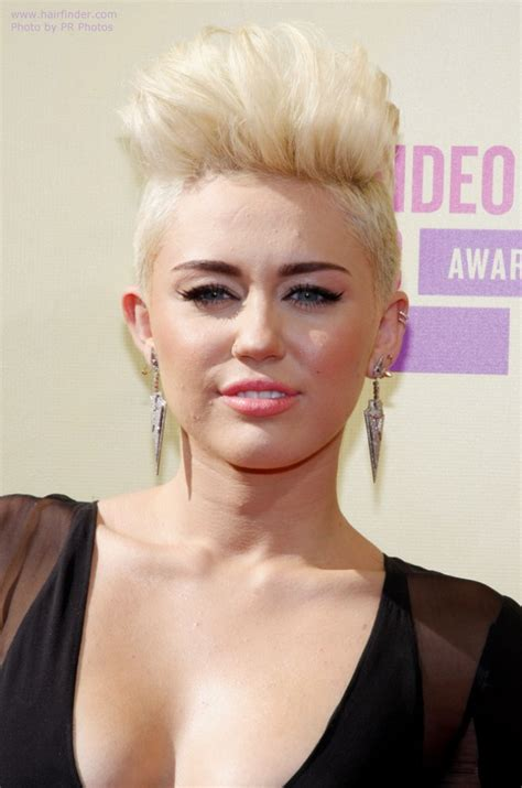 what is miley cyrus short hair style called miley cyrus with very short hair buzzed sides