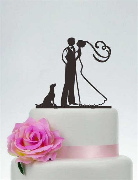 puppy cake topper groom and cake topper with the wedding cake topper custom cake topper