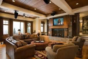 rustic livingroom im 225 genes de interiores de casas r 250 sticas