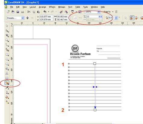 nota membuat blog cara membuat nota di coreldraw