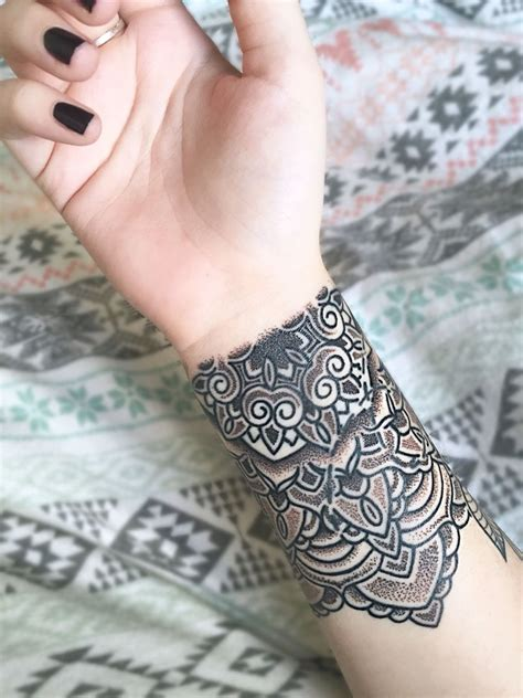 wrist tattoo art mandala wrist artist matt stopps at one by one