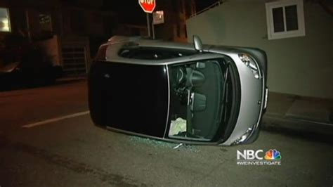 tipped smart cars 4 smart cars toppled as vandals strike san francisco
