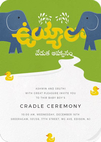 invitation cards for naming ceremony in telugu inytes invitations for indian and events