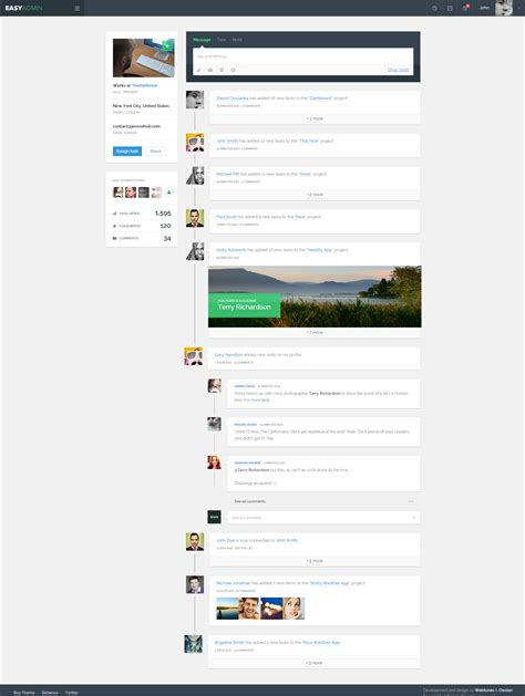 timeline html template easy admin responsive html template by webtunes