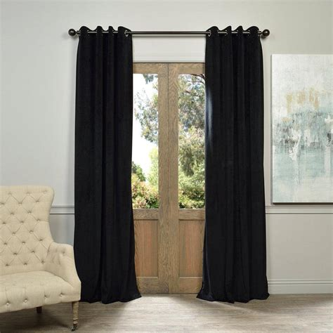 50 x 96 curtains exclusive fabrics furnishings signature warm black