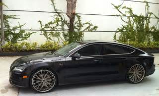 audi a7 with savani rims cars on the streets of miami
