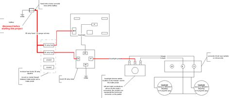 wiring diagram for headlight wiring diagram with description