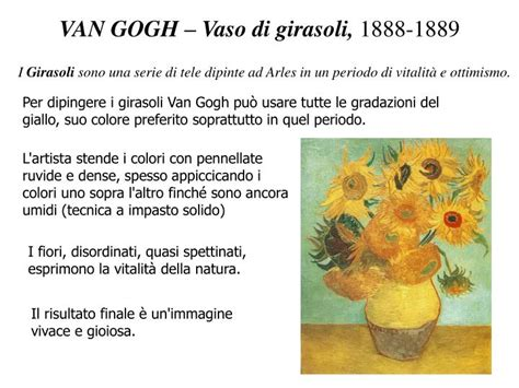 vaso di girasoli gogh ppt il post impressionismo powerpoint presentation id