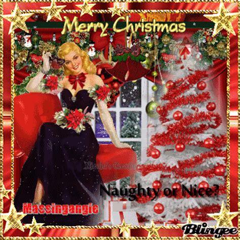 naughty  nice vintage christmas greeting picture  blingeecom
