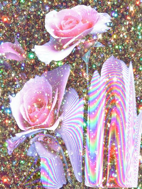 glitter wallpapers of flowers holographic glitter roses pink pinterest rainbow