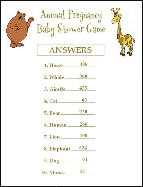printable animal babies match game a fun free animal baby shower game where you match the