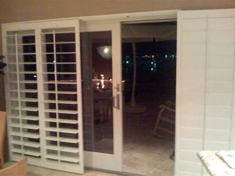 Shutters For Sliding Glass Doors Exterior Plantation Shutters For Sliding Glass Doors Door Stair Design