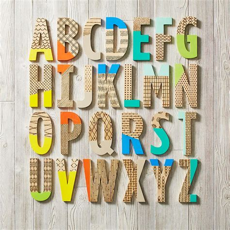 How To Decorate Letters by Decorating With Wooden Letters