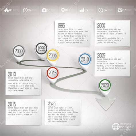 timeline  pointer marks infographic  business