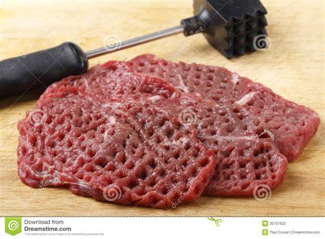 Kitchen Program Design Free tenderized raw minute steaks stock photography image