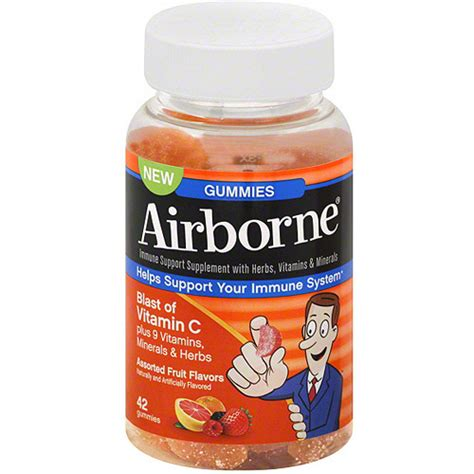 Vitamin Airborne Airborne Immune Support Supplement With Vitamin C Gummies