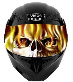 Sticker Visor Helm Hjc motorcycle helmet visor decals
