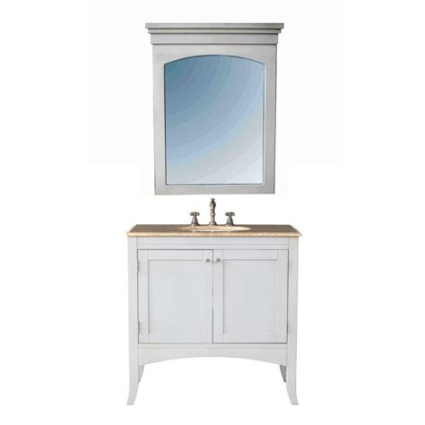 36 bathroom vanity white stufurhome alyssa 36 in vanity in cream off white with