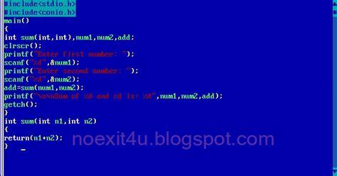 program  add  numbers  function noexitucom